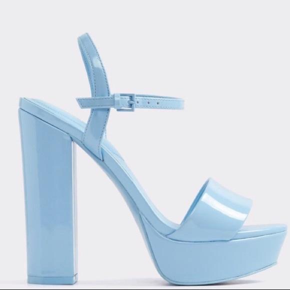 f2df0b4f6c3 Aldo Shoes - ALDO LIGHT BLUE PLATFORM SANDAL sz 6